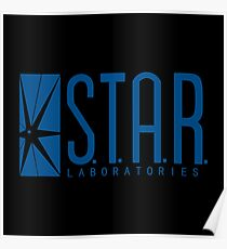 S.T.A.R. Laboratories (blue) Poster