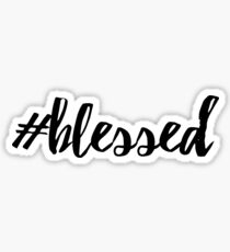 blessed hashtag Sticker