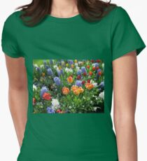 Colourful Array of Tulips and Hyacinths - Keukenhof Gardens Womens Fitted T-Shirt