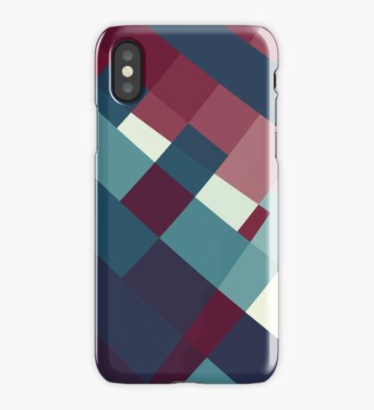 Windows Abstract Squares Red Blue White iPhone Case