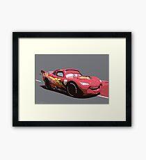 Lightning Mcqueen Race Car  Framed Print