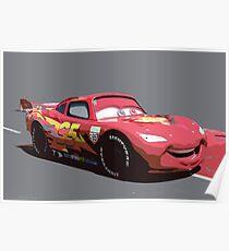 Lightning Mcqueen Race Car  Poster