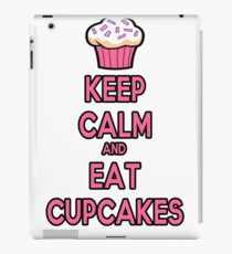 Keep Calm and Eat Cupcakes Pink iPad Case/Skin