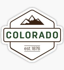 Colorado Mountain Badge Sticker