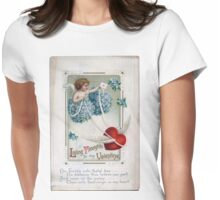 Cherubs and hearts Womens Fitted T-Shirt