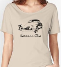 VW Karmann Ghia Stensil Print Women's Relaxed Fit T-Shirt