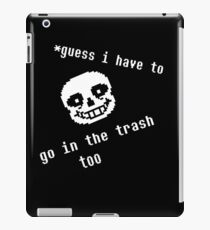Guess i have to go in the trash too iPad Case/Skin