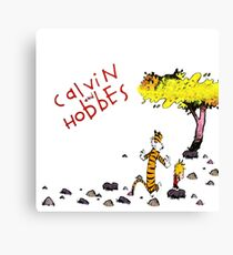 Playing with best friend Calvin and Hobbes Canvas Print