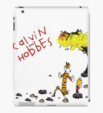 Playing with best friend Calvin and Hobbes iPad Case/Skin