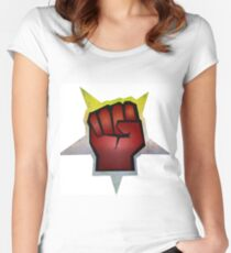 Fist Bump Women's Fitted Scoop T-Shirt