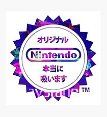 Vaporwave Nintendo Photographic Print