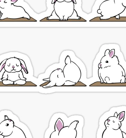 Bunnies Yoga Sticker