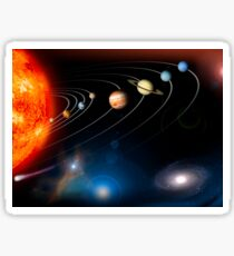 Digitally generated image of our solar system and points beyond. Sticker