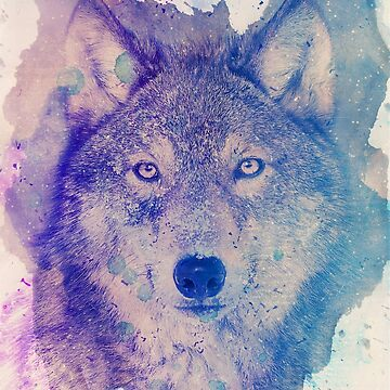 Wolf in blues by mikath