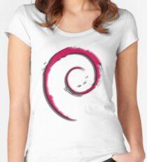 Debian Logo Women's Fitted Scoop T-Shirt