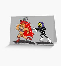 Skeleton Chases Shower Greeting Card