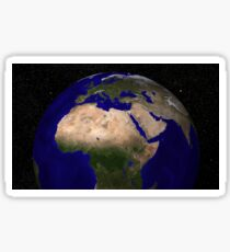 Global view of Earth over North Africa, Europe, the Middle East, and India. Sticker
