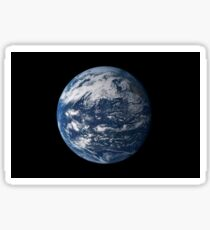 Full Earth centered over the Pacific Ocean. Sticker