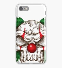 skull clown sketch  iPhone Case/Skin