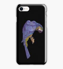 Blue Parrot T_Shirt iPhone Case/Skin
