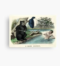A bare chance - Currier & Ives - 1879 Canvas Print