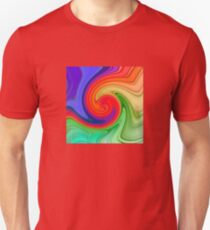 Raspberry Ripple Colourful Background Pattern T-Shirt