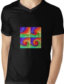 The Fourth Dimension Colourful Background Pattern T-Shirt