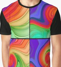The Fourth Dimension Colourful Background Pattern Graphic T-Shirt