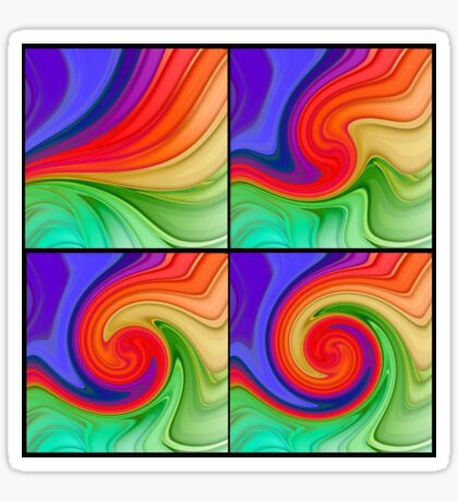 The Fourth Dimension Colourful Background Pattern Sticker