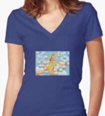 Have A Bubbly Birthday Women's Fitted V-Neck T-Shirt