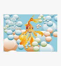 Have A Bubbly Birthday Photographic Print