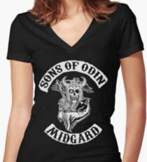 Sons Of Odin - Midgard Chapter Women's Fitted V-Neck T-Shirt