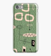 Mid-Century Modern Green Abstract iPhone Case/Skin