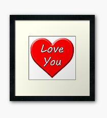 Love You (Heart) Framed Print