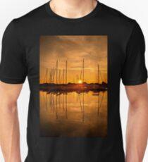 Sunset at the marina of Lefkada Unisex T-Shirt