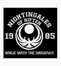 Nightingales of riften - black Photographic Print