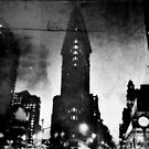 Flat Iron Building Film Noir Style by ShellyKay