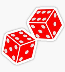 LUCKY, DOUBLE SIX, DICE, RED DICE, Throw the Dice, Casino, Game, Gamble, CRAPS Sticker