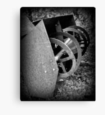 Farm Machinery | BNW | Black and White | Agricultural Canvas Print