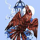The Falling Crow by Squishysquid