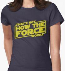 Ce n'est pas comment la force fonctionne T-shirt col V femme