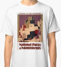 Vintage Pueblo WPA National Parks Travel Poster Classic T-Shirt