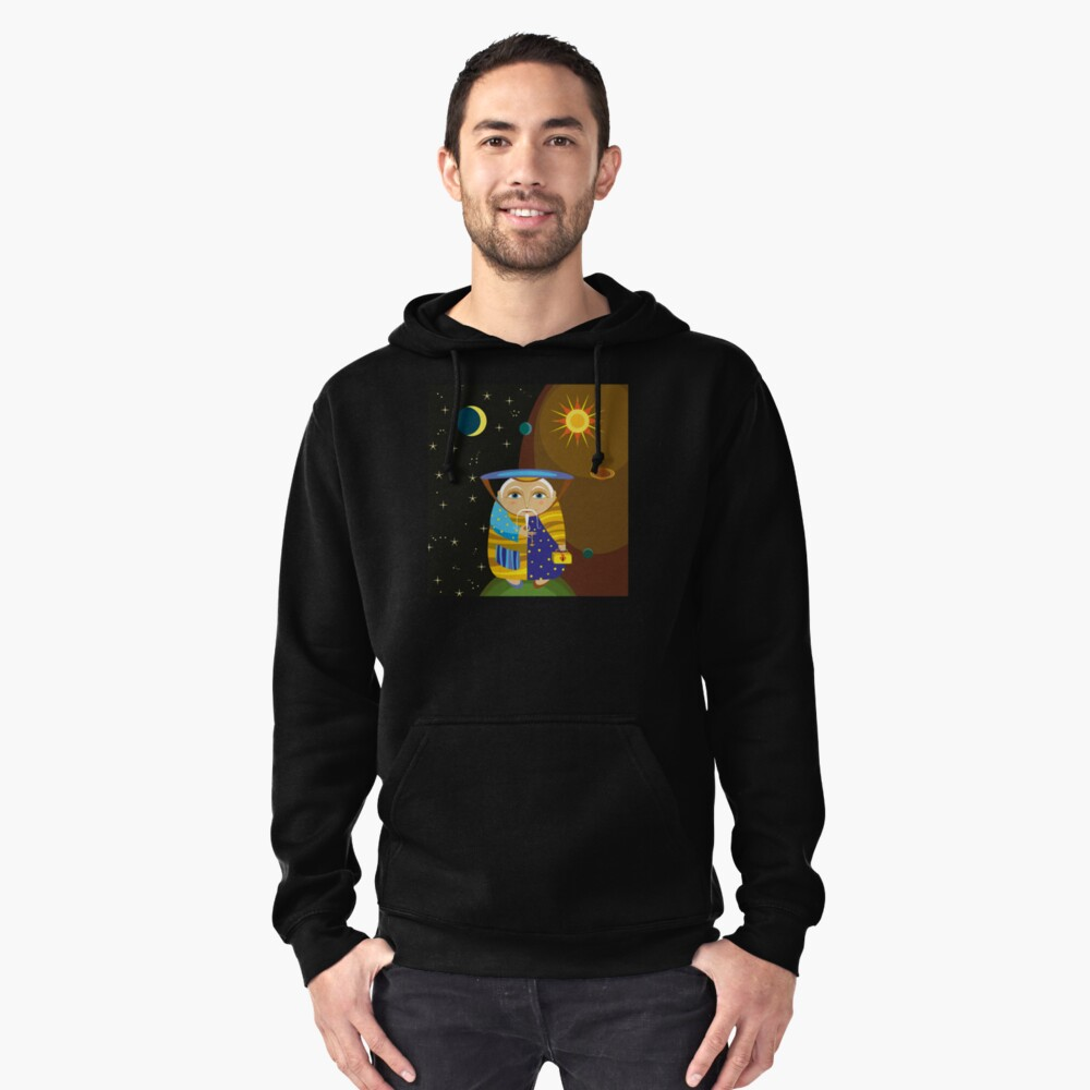 Old Wizard Pullover Hoodie Front