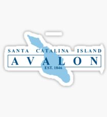 Catalina  Island - California. Sticker