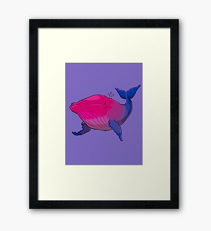 Bisexuwhale - no text Framed Print