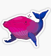 Bisexuwhale - no text Sticker
