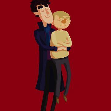 Put me down, Sherlock by Kirstendraws