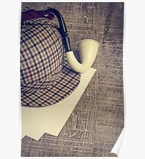 Sherlock Hat and Tobacco pipe Poster
