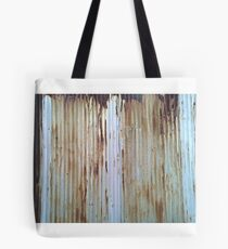 Old Rusted Barn Tin Tote Bag