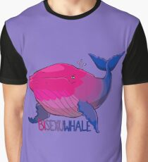 Bisexuwhale - with text Graphic T-Shirt